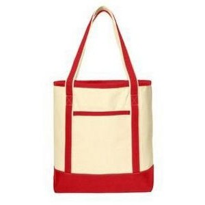 Port Authority® Large Cotton Canvas Boat Tote