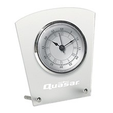 US Made Studded Frost White Desk Clock