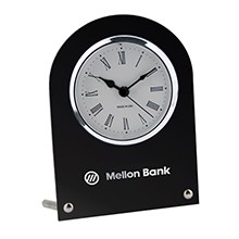 US Made Studded Black Desk Clock