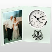 US Made Picture Book Frosted Desk Clock