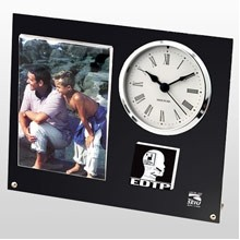 "US Made Studded Picture Desk Clock (4""x6"" Photo)"