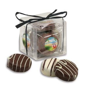 Stylish Acetate Cube with Chocolate Covered Oreos® Cookies