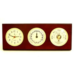 Tide & time Clock w/Weather Station - Mahogany