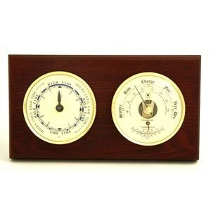 Tide Clock w/Weather Station - Mahogany