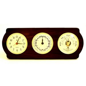 Tide & time Clock w/Weather Station - Ash