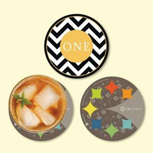"Origin'L Fabric® 4""Round x1/16"" Antimicrobial Coaster"