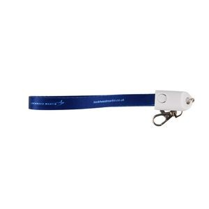 2-in-1 Polyester Wrist Lanyard Cable